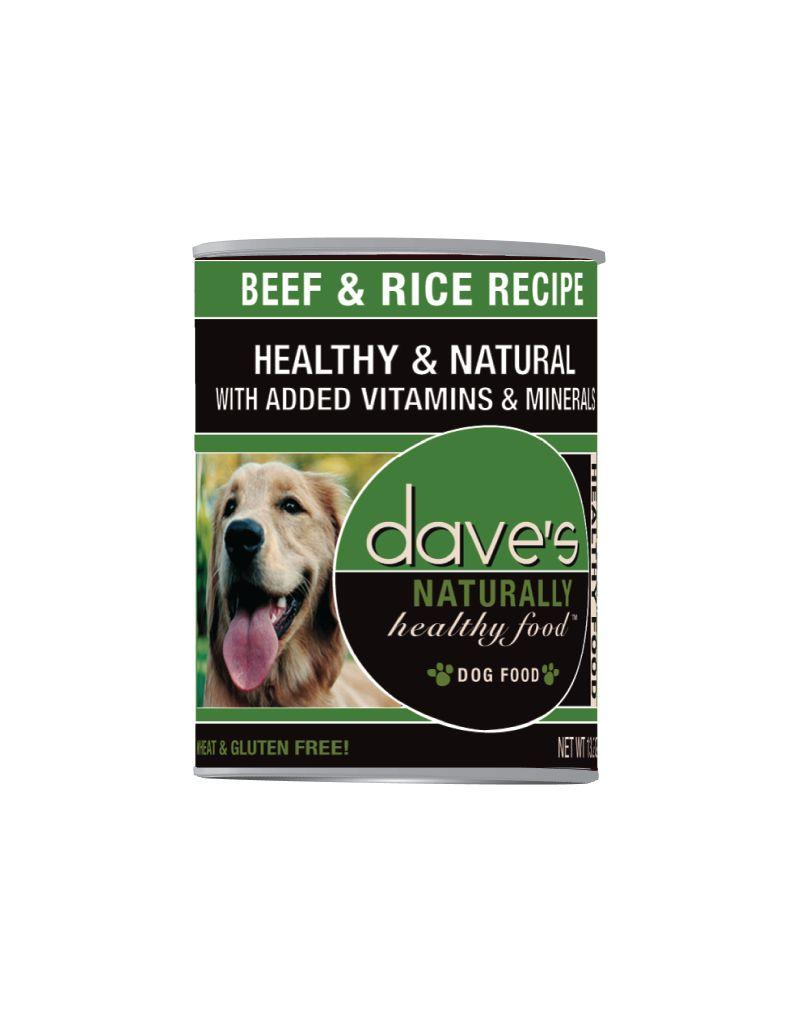 DAVE'S PET FOOD Dave's | Naturally Healthy Beef and Rice Canned Dog Food