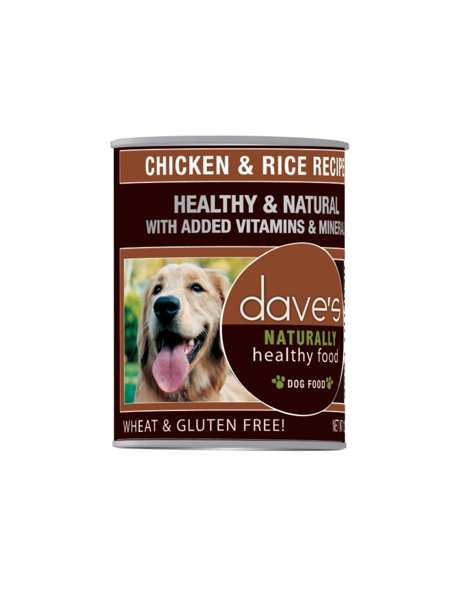 DAVE'S PET FOOD Dave's | Naturally Healthy Chicken & Rice Canned Dog Food