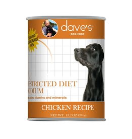 DAVE'S PET FOOD Dave's | Restricted Diet Sodium – Chicken Recipe Canned Dog Food 1 ea