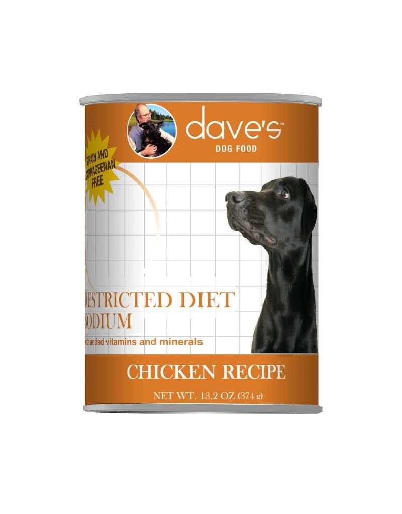 DAVE'S PET FOOD Dave's | Restricted Diet Sodium – Chicken Recipe Canned Dog Food Case of 12