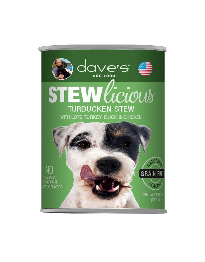 DAVE'S PET FOOD Dave's | Stewlicious Turducken Stew Canned Dog Food 13.2oz