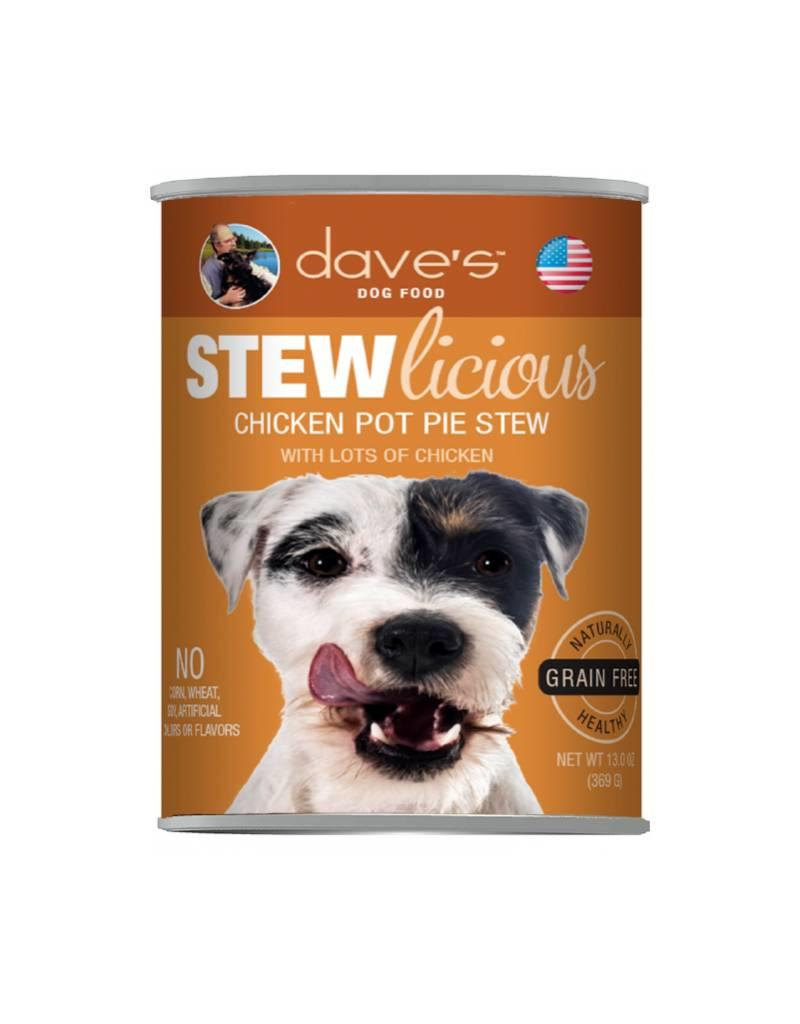 DAVE'S PET FOOD Dave's | Stewlicious Chicken Pot Pie Stew Canned Dog Food 13.2oz