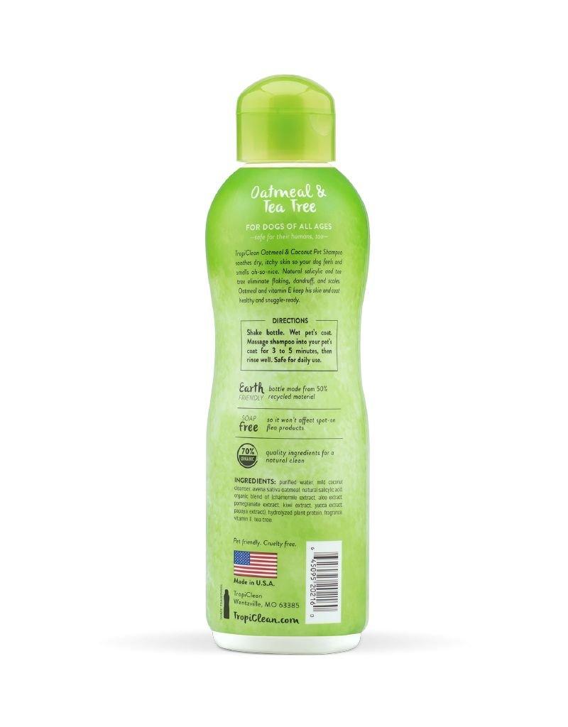 TROPICLEAN TropiClean | Oatmeal & Tea Tree Dog Shampoo 20 oz