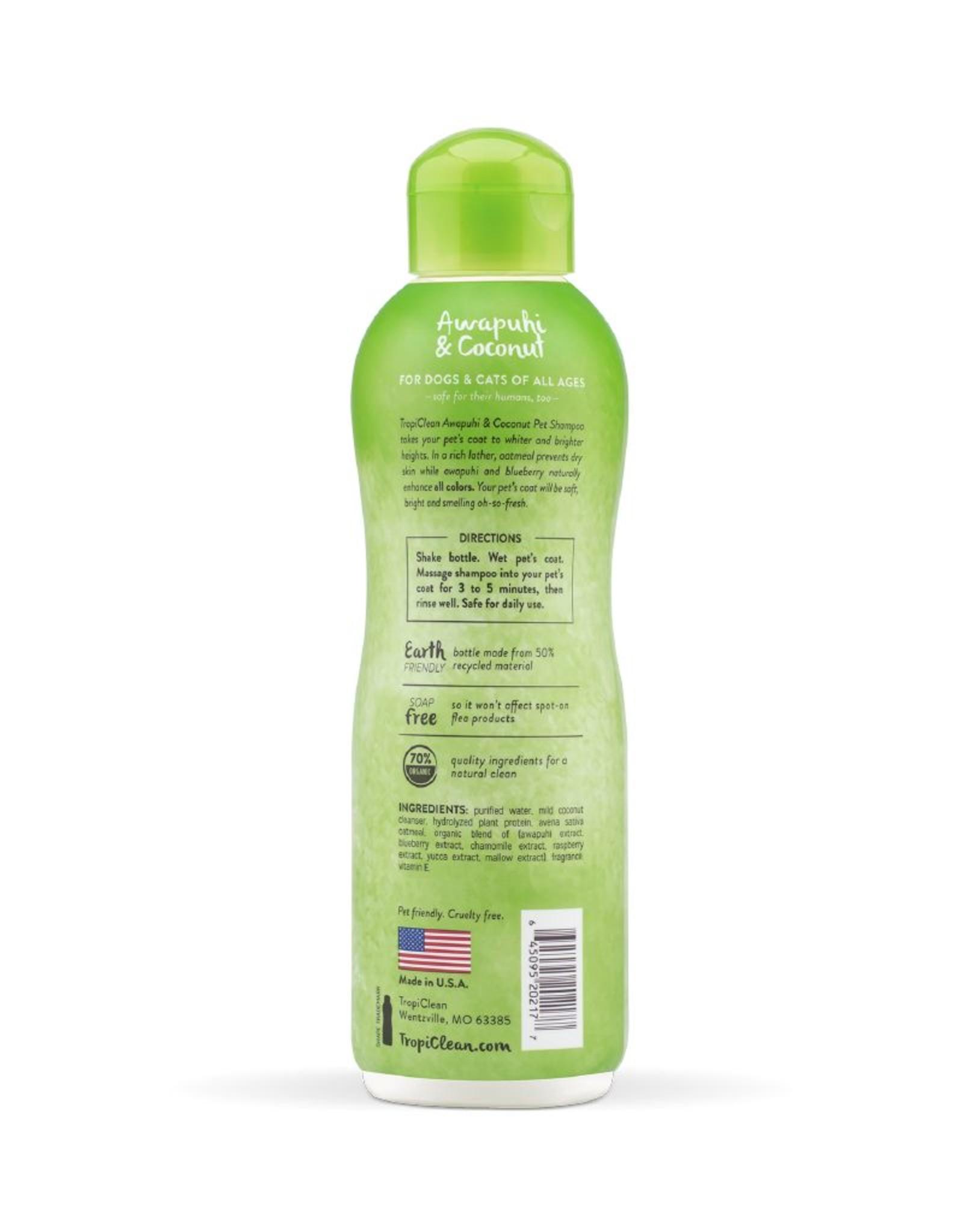 TROPICLEAN TropiClean | Awapuhi & Coconut Pet Shampoo 20 oz