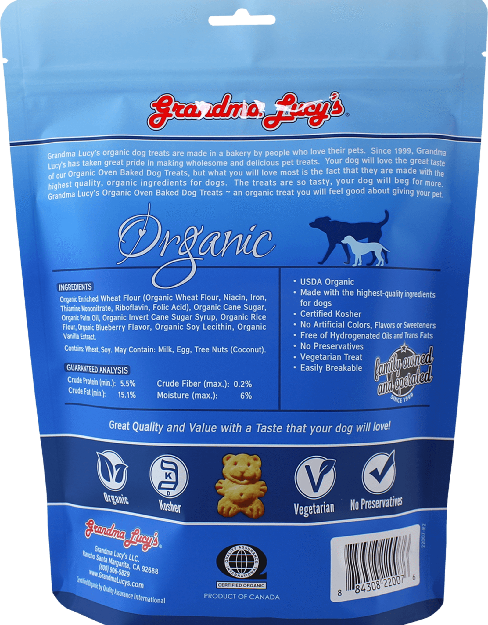 Grandma Lucy's Grandma Lucy's | Organic Oven Baked Dog Treats Blueberry 14 oz