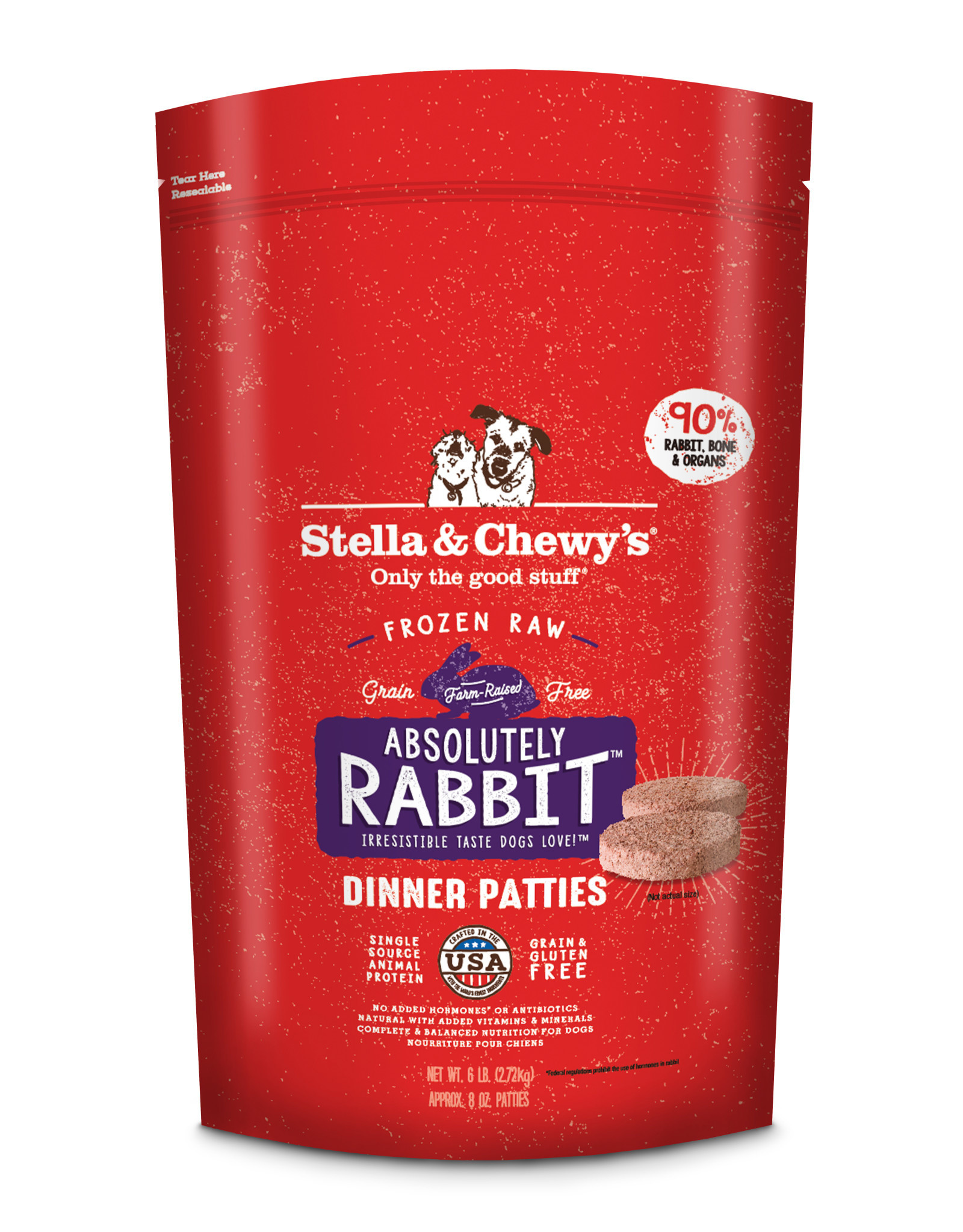 STELLA & CHEWY'S Stella & Chewy's | Frozen Canine Dinner Absolutely Rabbit Formula