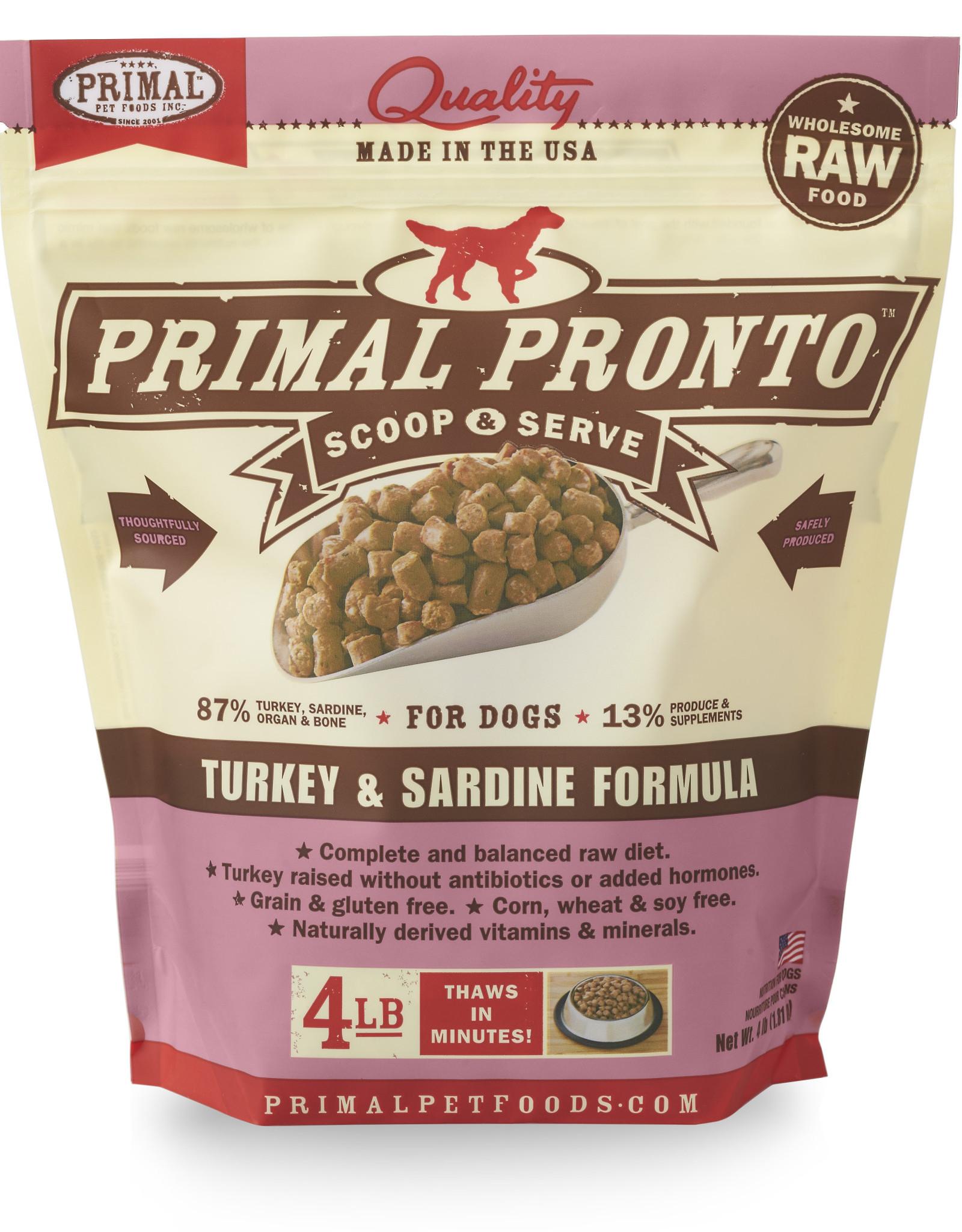 PRIMAL PET FOODS Primal | Raw Frozen Canine Turkey & Sardine Formula