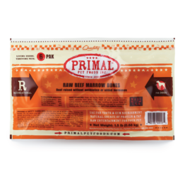"PRIMAL PET FOODS Primal | Dog Frozen Bone Beef Marrow 2"" 6 Count"
