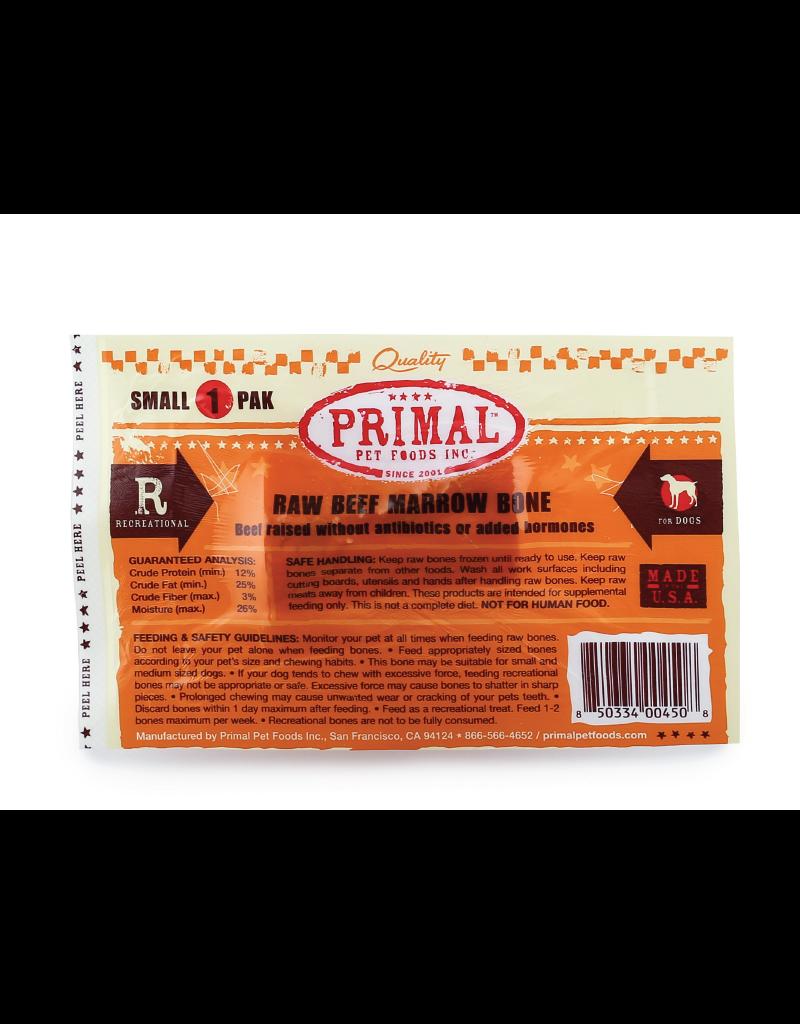 PRIMAL PET FOODS Primal   Dog Frozen Bone Beef Marrow Small Single Pack
