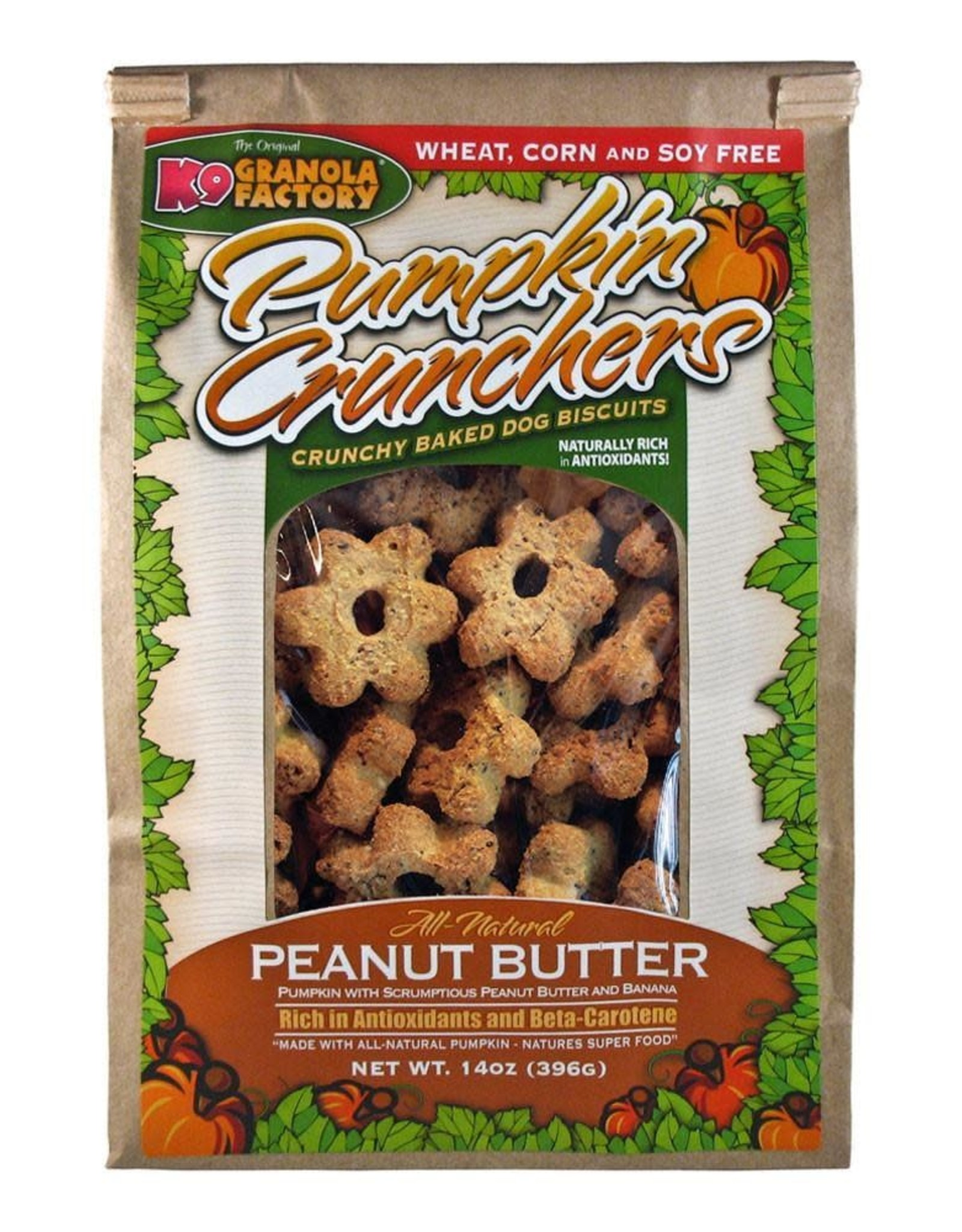 K9 Granola Factory K9 Granola | Treats Crunchers Pumpkin Peanut Butter & Banana 14 oz