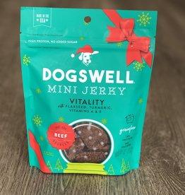 Dogswell | Mini Beef Jerky Vitality, Flaxseed, Tumeric