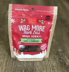 Wag More Bark Less | Mini Jerky Turkey & Cranberries