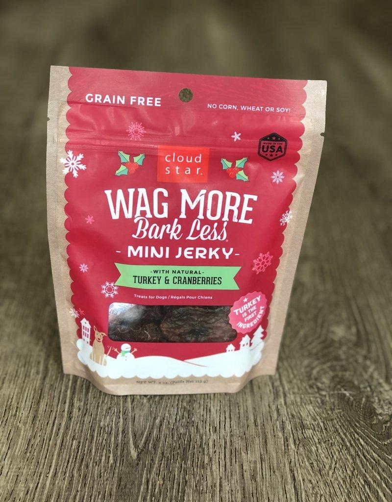 Wag More Bark Less | Mini Jerky Turkey & Cranberries