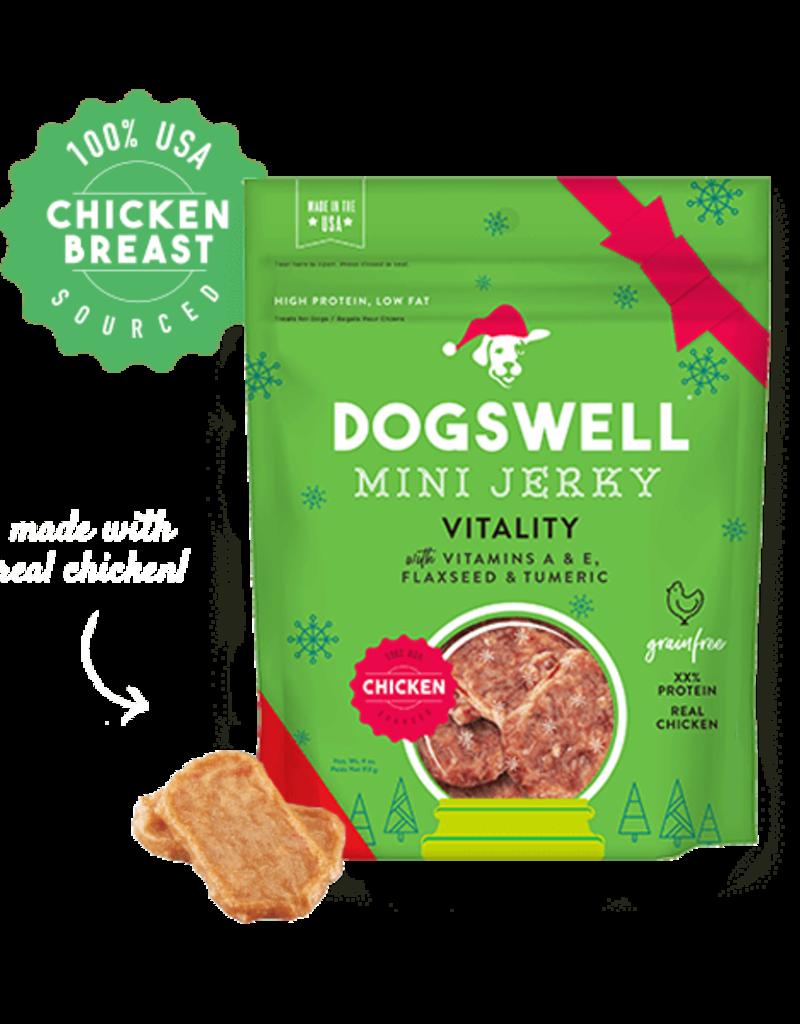 Dogswell | Mini Chicken Breast Jerky Vitality, Flaxseed, Tumeric