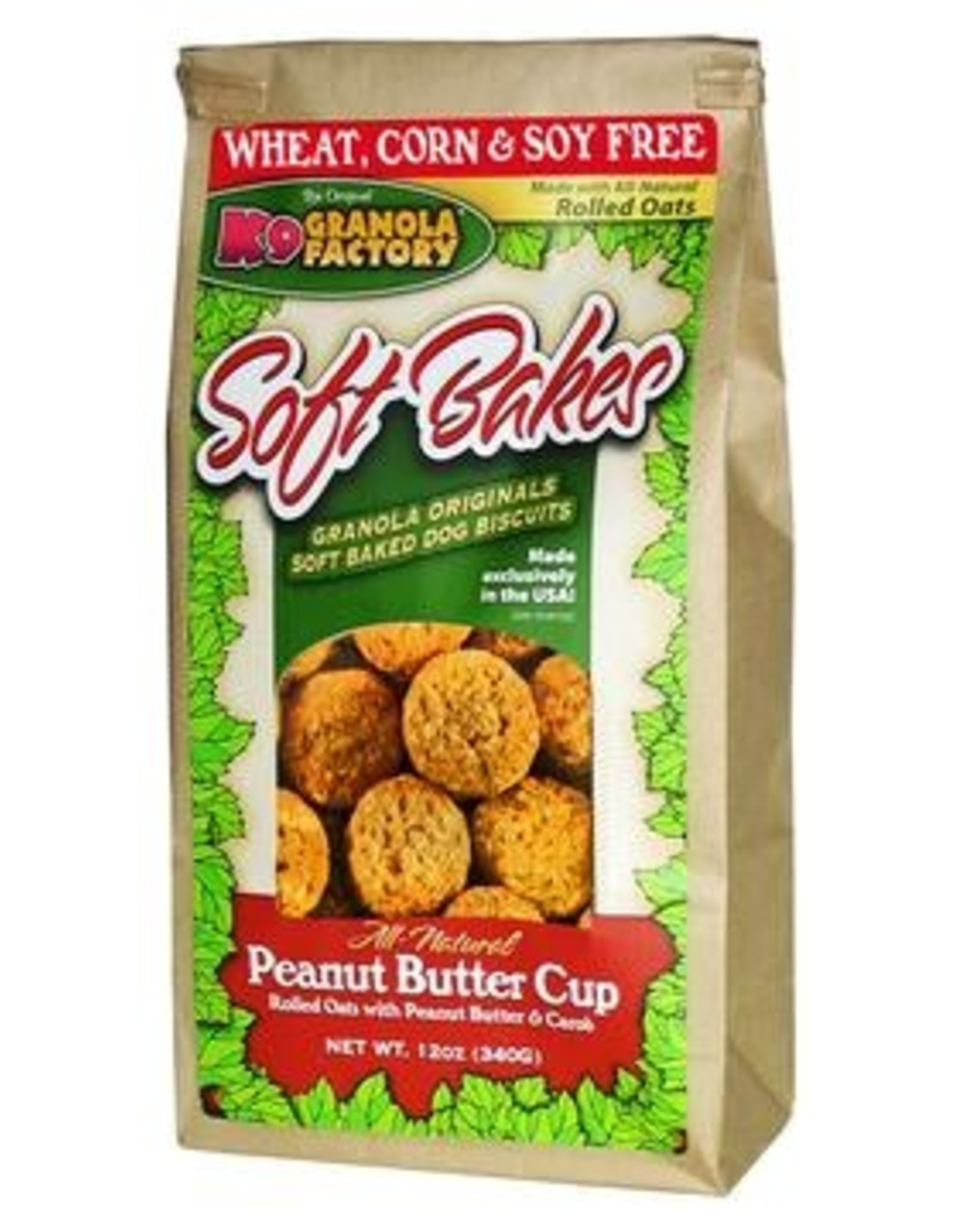 K9 Granola Factory K9 Granola | Treats Soft Bakes Peanut Butter Cup 12 oz