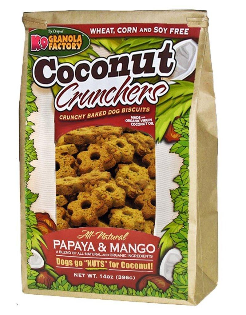 K9 Granola Factory K9 Granola | Treats Crunchers Coconut Papaya & Mango 14 oz