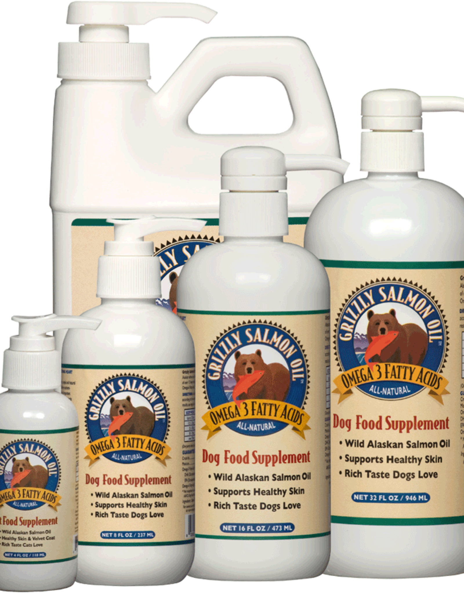 GRIZZLY PET PRODUCTS Grizzly Salmon Oil Dogs 32oz