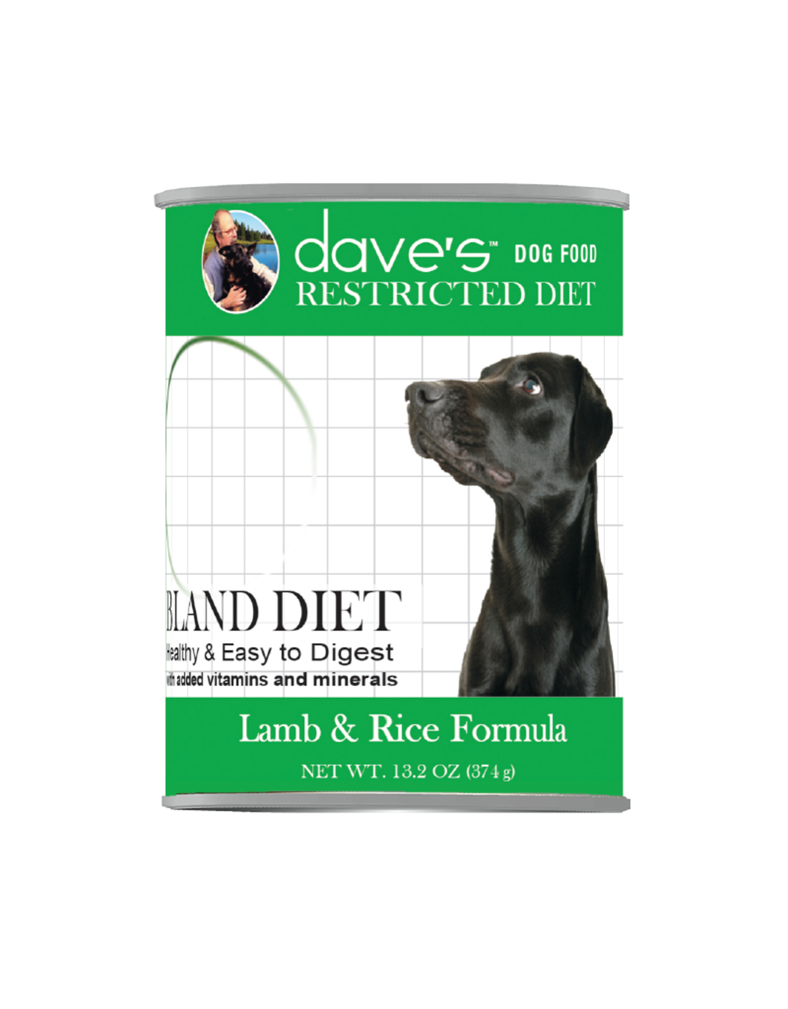 DAVE'S PET FOOD Dave's | Restricted Diet Bland – Lamb & Rice Formula Canned Dog Food