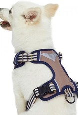 Blueberry Pet Blueberry Pet | 3M Reflective Multi-colored Stripe Dog Harness
