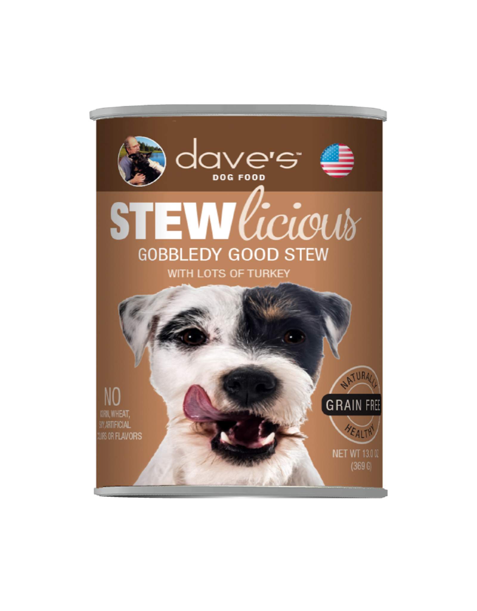 DAVE'S PET FOOD Dave's | Stewlicious Gobbledy Good Stew Canned Dog Food 13.2oz