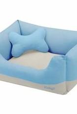 Blueberry Pet Blueberry Pet | Color Block Linen Blended Dog Bed