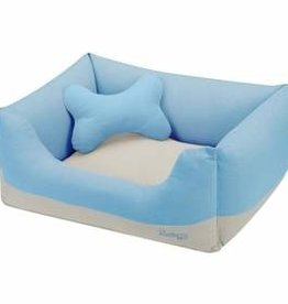 Blueberry Pet Blueberry Pet | Color Block Linen Blended Dog Bed