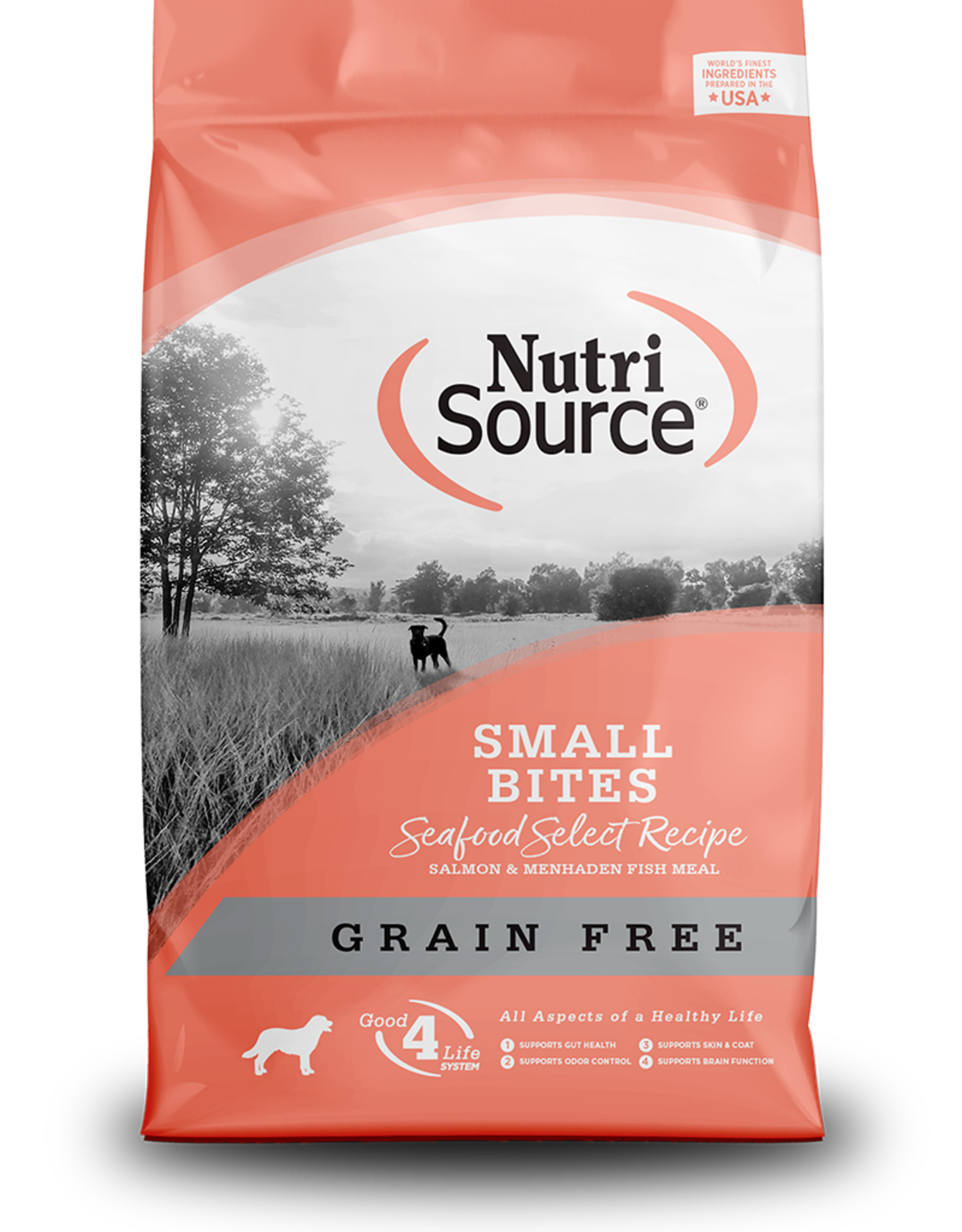 NUTRI SOURCE Nutri Source | Grain Free Small Bites Seafood Select Recipe 5 lb