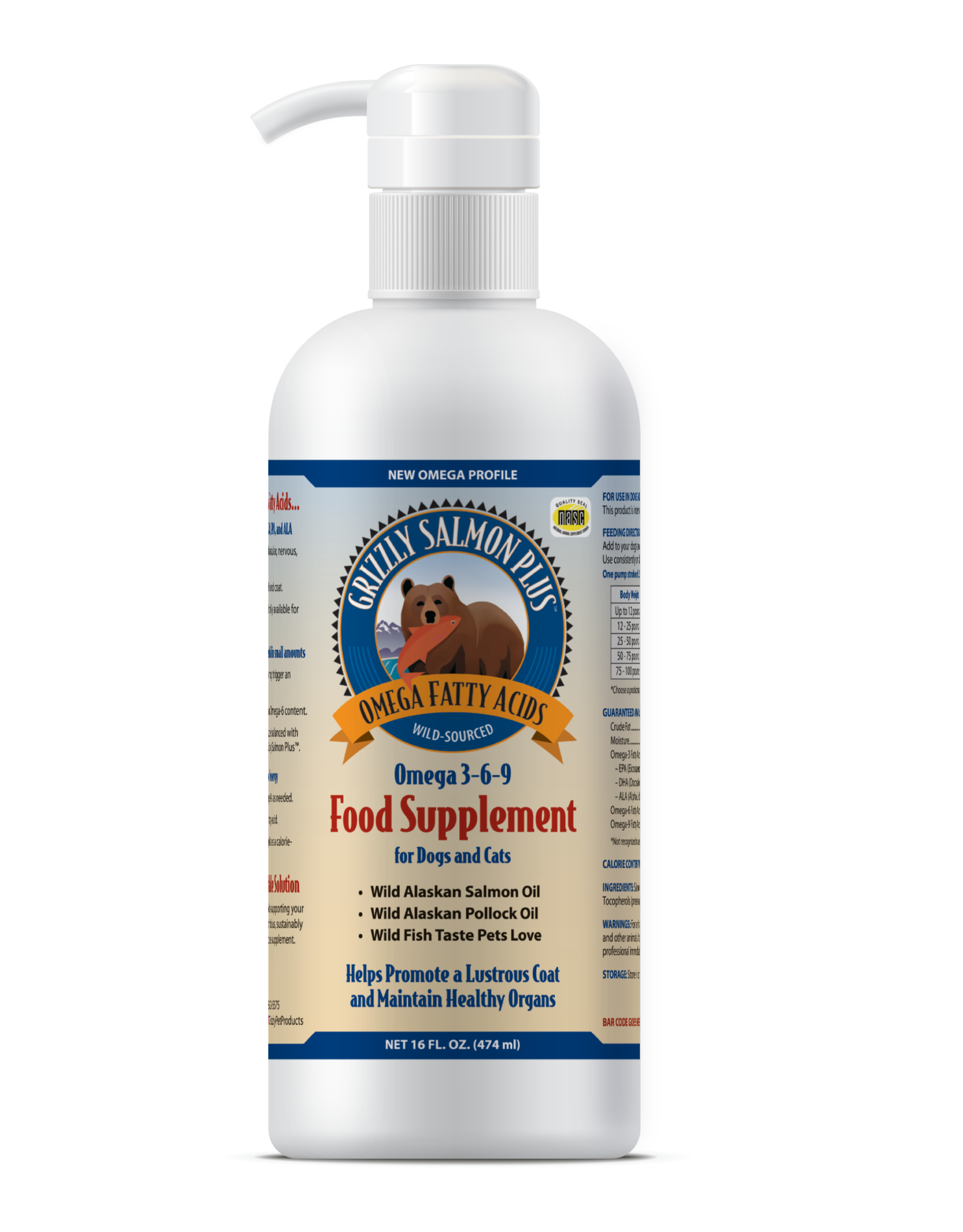 GRIZZLY PET PRODUCTS Grizzly Salmon Oil 16 oz