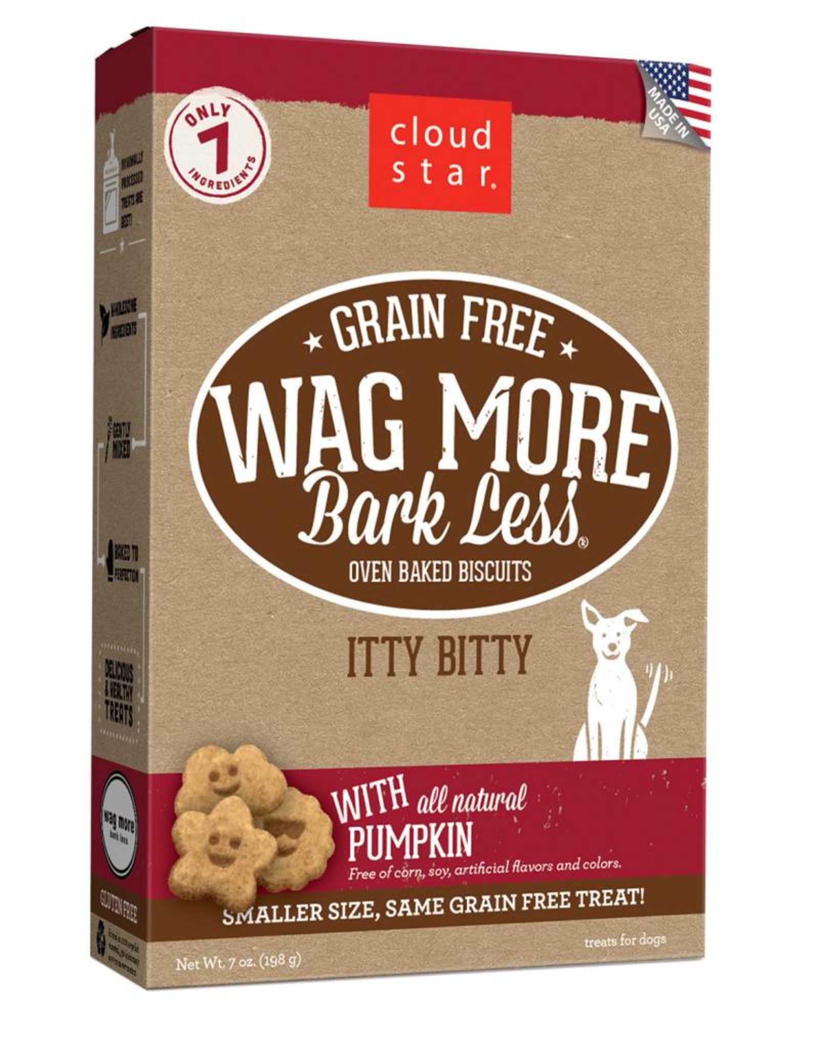 Cloud Star | Wag More Bark Less with All Natural Pumkin Crunchy 7oz