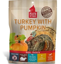 PLATO PET TREATS Plato | Real Strips Turkey With Pumpkin