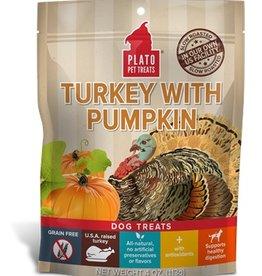 PLATO PET TREATS Plato | Real Strips Turkey With Pumpkin