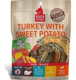 PLATO PET TREATS Plato | Real Strips Turkey With Sweet Potato
