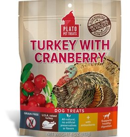 PLATO PET TREATS Plato | Real Treats Turkey With Cranberry
