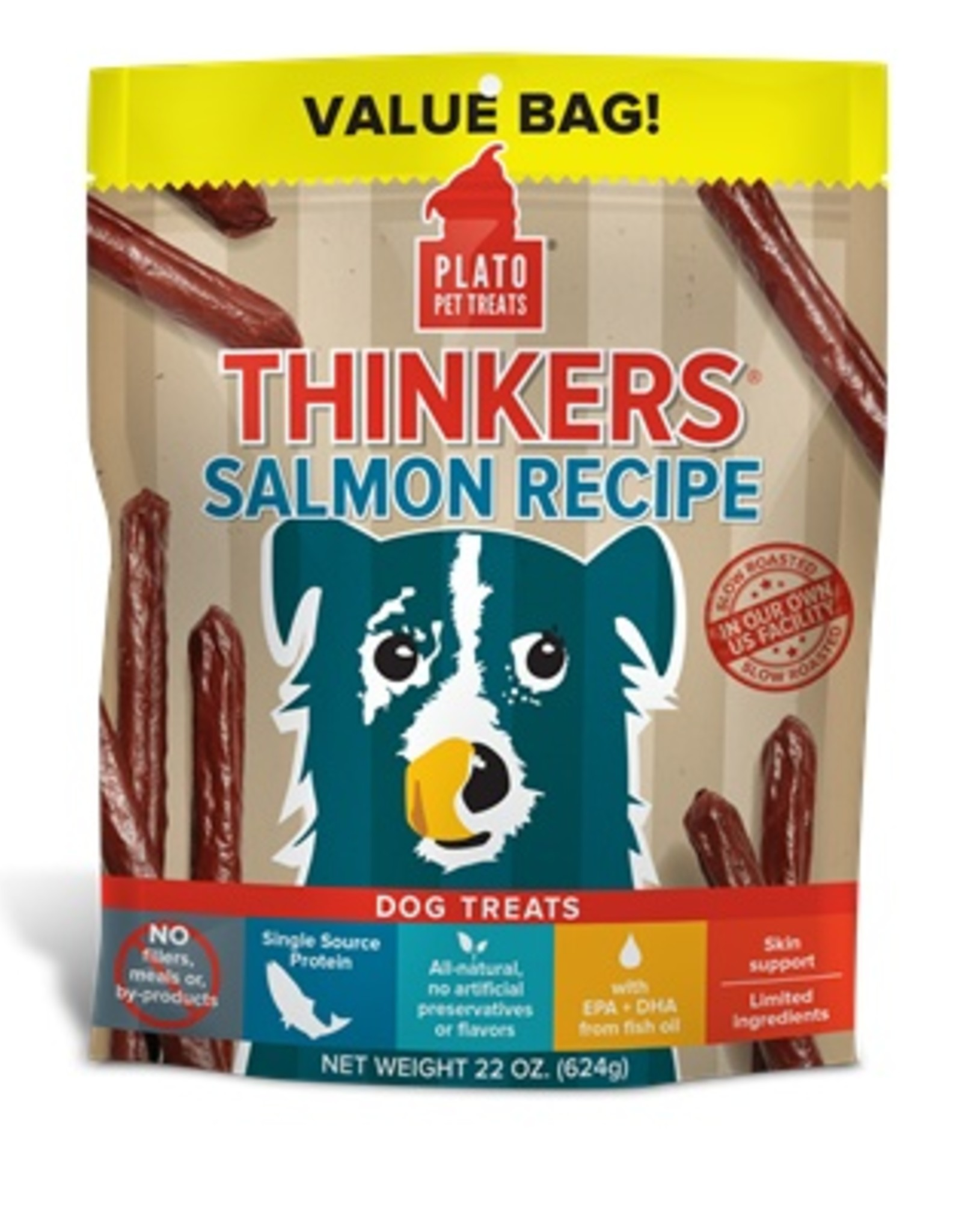 PLATO PET TREATS Plato | Thinkers Salmon Dog Treats