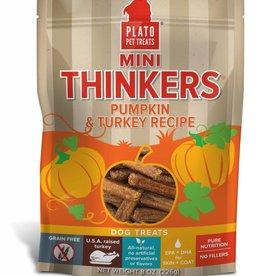 PLATO PET TREATS Plato | Mini Thinkers Pumpkin & Turkey Recipe 8 oz