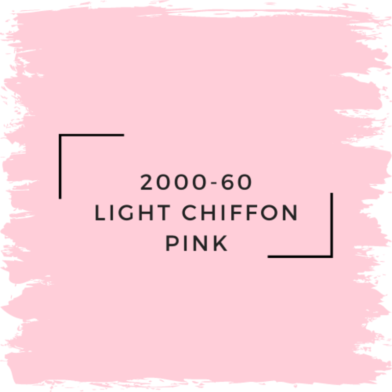 Benjamin Moore 2000-60 Light Chiffon Pink