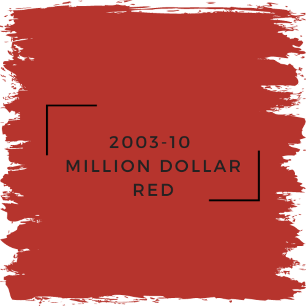 Benjamin Moore 2003-10  Million Dollar Red