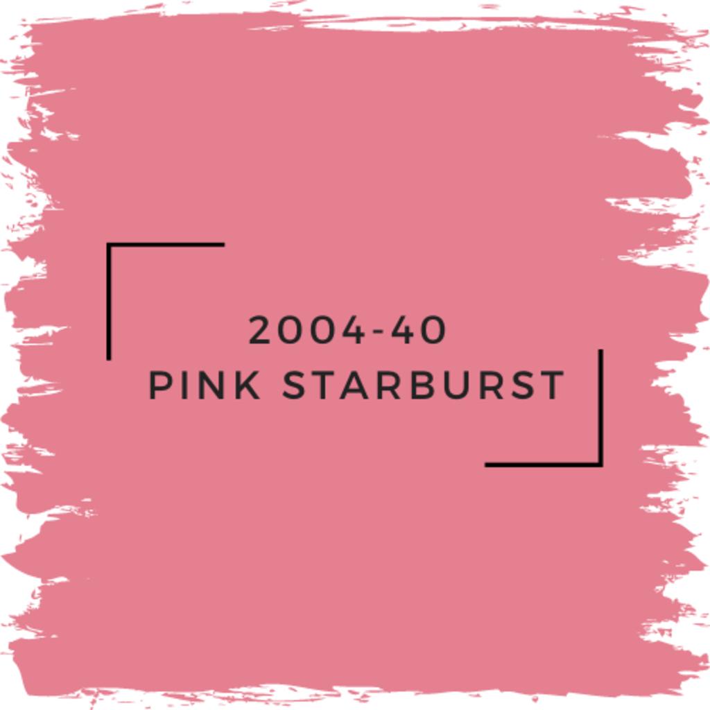 Benjamin Moore 2004-40  Pink Starburst