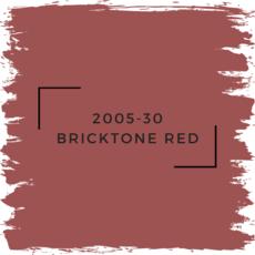Benjamin Moore 2005-30 Bricktone Red
