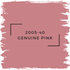 Benjamin Moore 2005-40 Genuine Pink