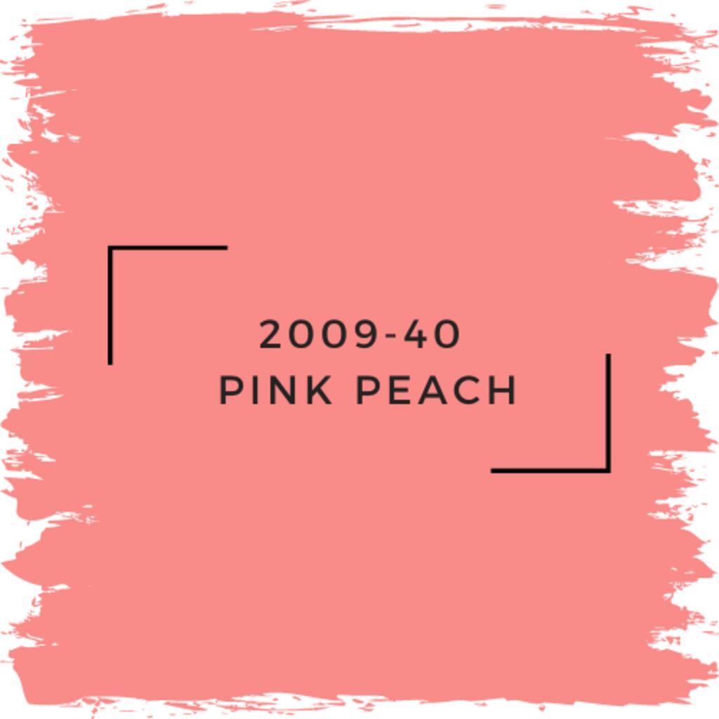 Benjamin Moore 2009-40  Pink Peach
