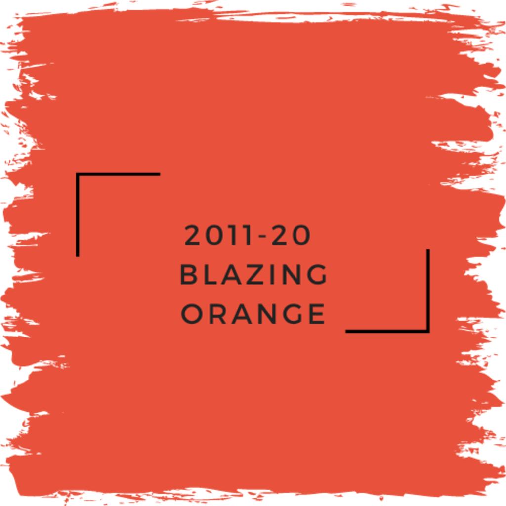 Benjamin Moore 2011-20  Blazing Orange