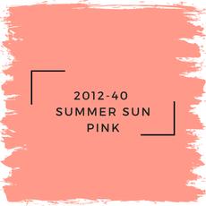Benjamin Moore 2012-40  Summer Sun Pink