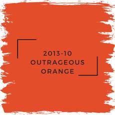 Benjamin Moore 2013-10 Outrageous Orange