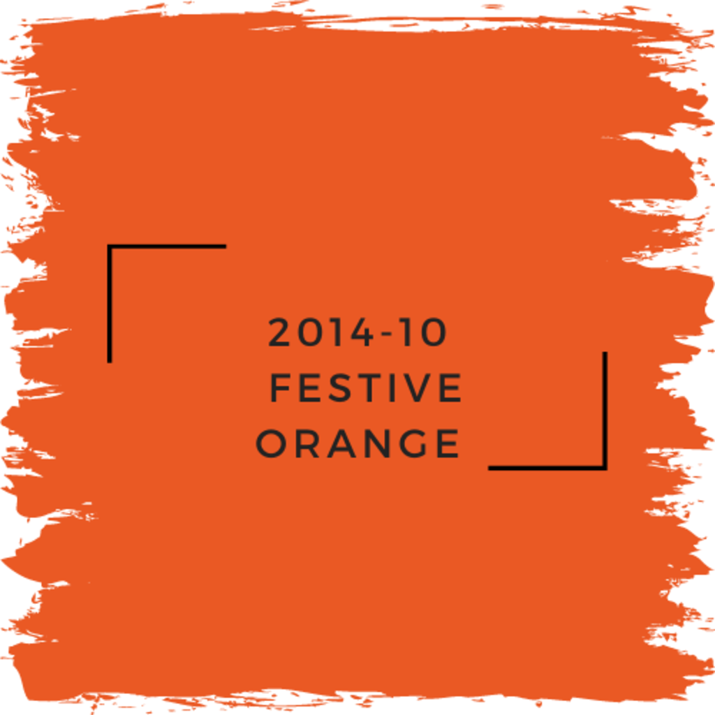 Benjamin Moore 2014-10  Festive Orange