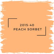 Benjamin Moore 2015-40  Peach Sorbet