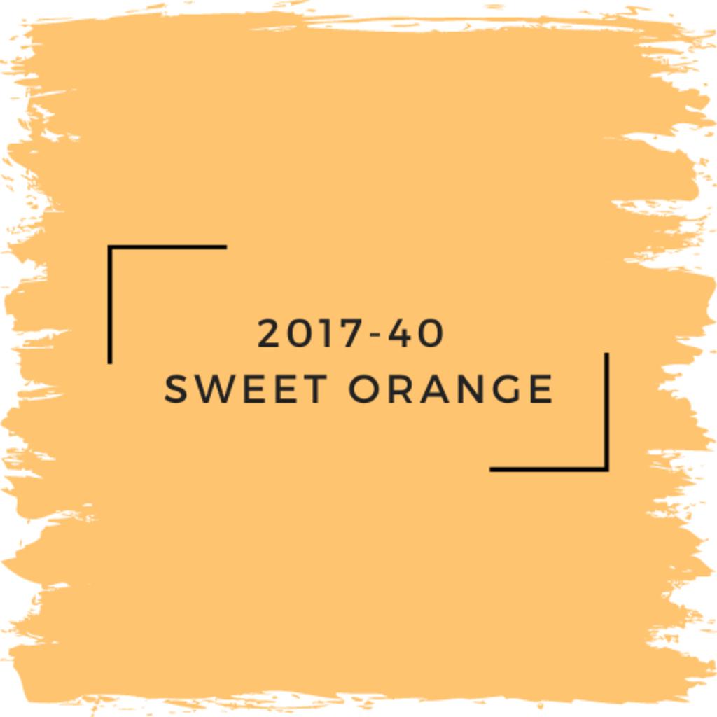 Benjamin Moore 2017-40  Sweet Orange