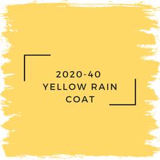 Benjamin Moore 2020-40  Yellow Rain Coat