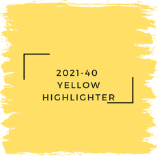 Benjamin Moore 2021-40  Yellow Highlighter
