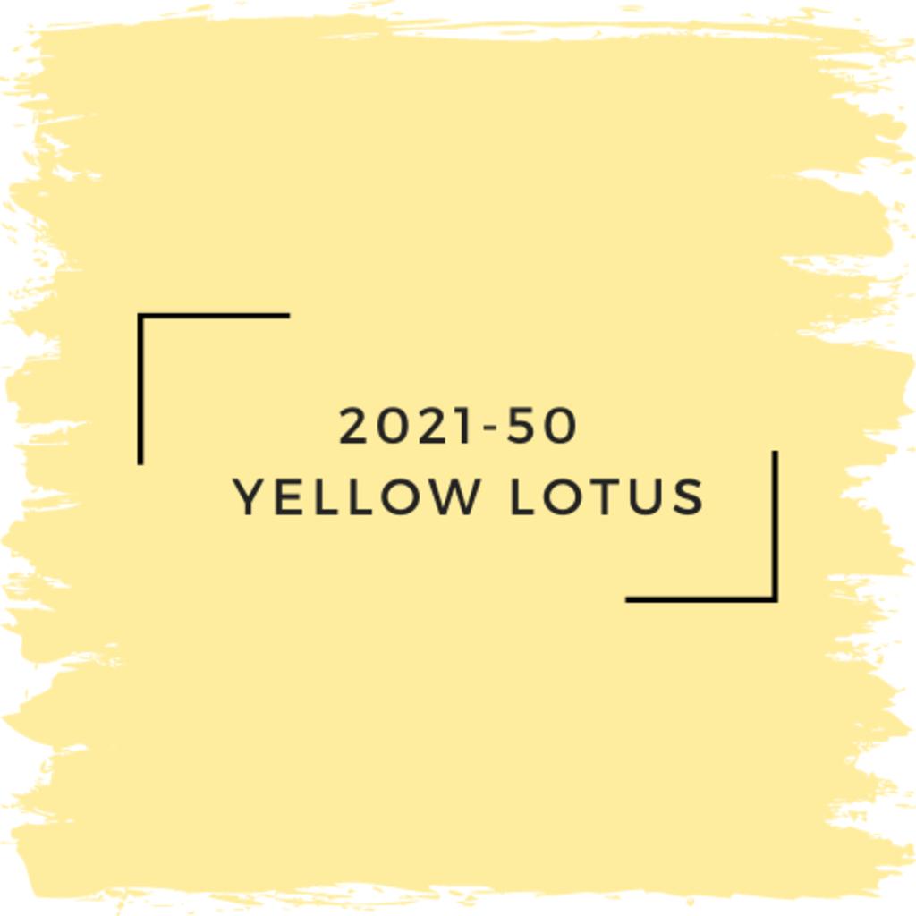 Benjamin Moore 2021-50  Yellow Lotus